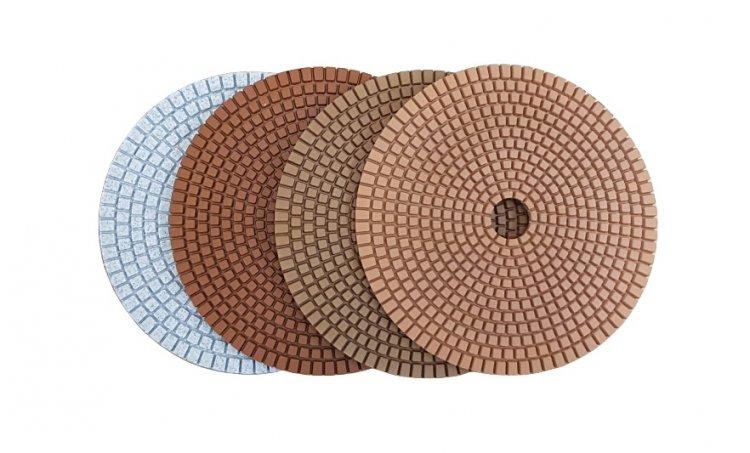 Achatschleifset, braun 150 mm - zum Schließen ins Bild klicken